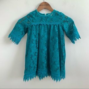Jessica Simpson | Toddler Girl's Teal Lace Dress 4